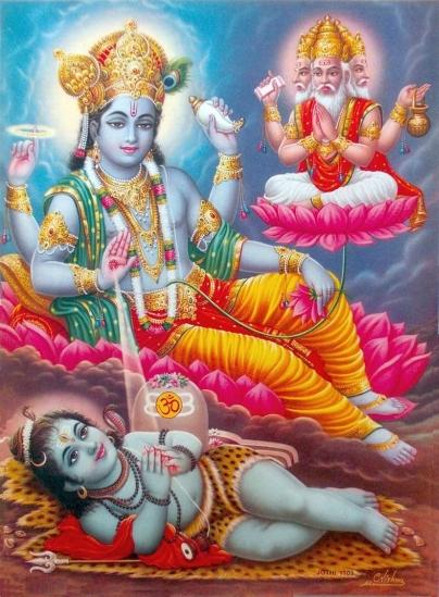 Hindu Icons And Symbols Ii Trinity Red Zambala